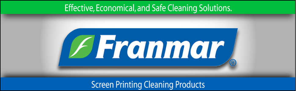 Franmar, Franmar Chemicals, Franmar Screen Printing Chemicals, Franmar Ecofriendly Screen Printing Products, Buckets of Ink