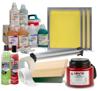Screen Printing Supply, Screen printing Supplies, Buckets of Ink, Screen Printing Equipment, Screen Printing Ink
