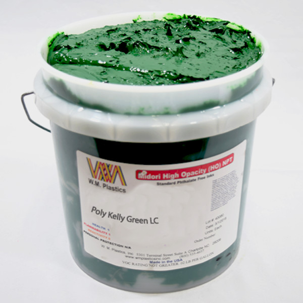 Kelly Green Low Cure- Low Temp Poly Ink Buckets of Ink