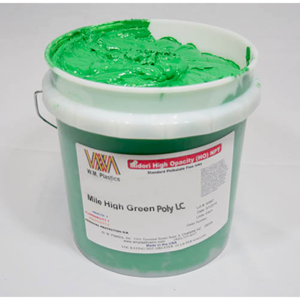 Mile High Green Low Cure- Low Temp Poly Ink Buckets of Ink