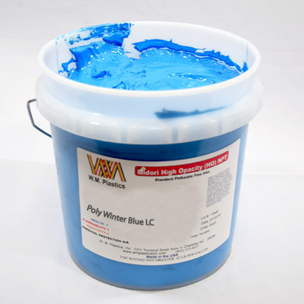 Winter Blue Low Cure- Low Temp Poly Ink Buckets of Ink