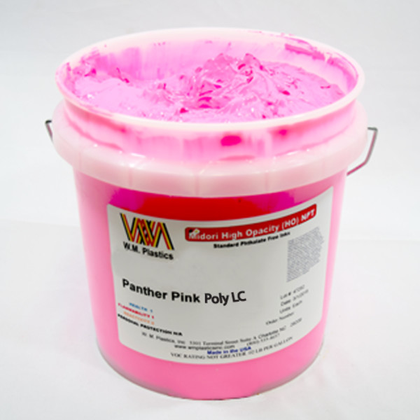 Panther Pink Low Cure- Low Temp Poly Ink Buckets of Ink