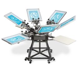 Workhorse Mach 4 Color, 4 Station Screen Printing Press Thumbnail