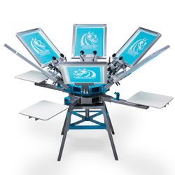 Workhorse Odyssey 6 Color, 4 Station Screen Printing Press Thumbnail