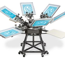 Workhorse Mach 6 Color, 4 Station Screen Printing Press Thumbnail